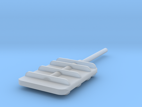 Flanking Rudder V2 in Smooth Fine Detail Plastic