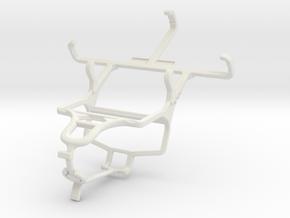 Controller mount for PS4 & Alcatel Pixi 3 (3.5) in White Natural Versatile Plastic