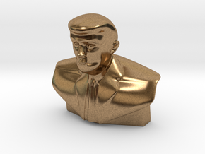 Donald Trump Statue - Tiny in Natural Brass