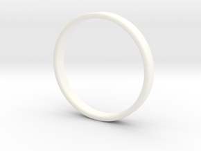 Ring For Ed - Size 11,5 - 3mm Wide - 1,2mm Thick in White Strong & Flexible Polished