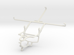 Controller mount for PS4 & Asus Memo Pad 7 ME572C in White Natural Versatile Plastic