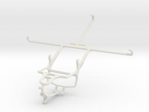 Controller mount for PS4 & Asus Memo Pad 8 ME181C in White Natural Versatile Plastic