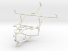 Controller mount for PS4 & BLU Life Play Mini in White Natural Versatile Plastic