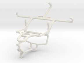 Controller mount for PS4 & BLU Life Play X in White Natural Versatile Plastic