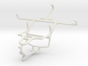 Controller mount for PS4 & HTC One (M8) in White Natural Versatile Plastic
