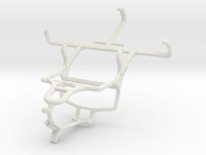 Controller mount for PS4 & Motorola Moto E in White Natural Versatile Plastic