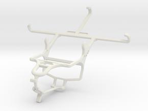 Controller mount for PS4 & Panasonic P55 in White Natural Versatile Plastic