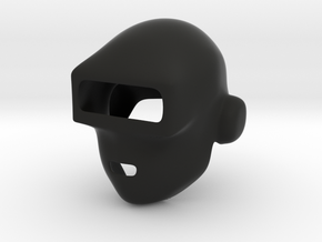 Daft Punk Mask (Smooth) in Black Natural Versatile Plastic