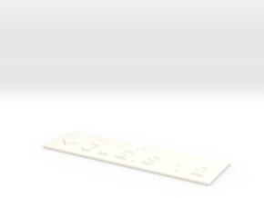 GLEIS 12 mit Pfeil nach unten in White Processed Versatile Plastic