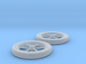 1/32 Spindle Mount Drag Tire And Wheel in Smoothest Fine Detail Plastic