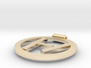 Twenty One Pilots Logo Pendant in 14k Gold Plated Brass