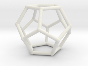 Dodecahedron with nubs in White Natural Versatile Plastic