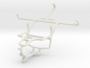 Controller mount for PS4 & Samsung Galaxy S5 Activ in White Natural Versatile Plastic