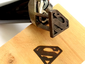 Superman Bic Branding Iron in Polished Bronzed Silver Steel