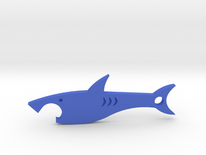 Shark bottle opener in Blue Processed Versatile Plastic