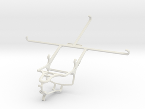 Controller mount for PS4 & Samsung Galaxy Tab Pro  in White Natural Versatile Plastic