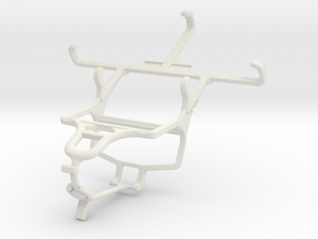 Controller mount for PS4 & Samsung I8200 Galaxy S  in White Natural Versatile Plastic