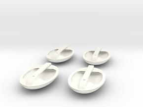 1.5 EC155 POIGNEES DE PORTES X4 in White Processed Versatile Plastic
