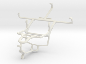 Controller mount for PS4 & Sony Xperia E4g in White Natural Versatile Plastic