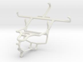 Controller mount for PS4 & Spice Mi-498 Dream Uno in White Natural Versatile Plastic