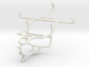 Controller mount for PS4 & Unnecto Quattro Z in White Natural Versatile Plastic