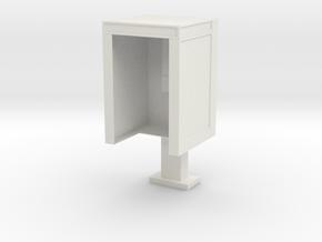 PhoneBooth3 in White Natural Versatile Plastic