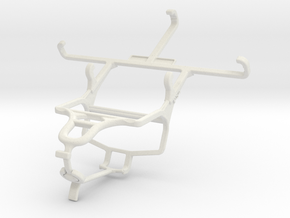 Controller mount for PS4 & verykool SL4500 Fusion in White Natural Versatile Plastic