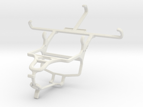 Controller mount for PS4 & Yezz Andy 4.5M in White Natural Versatile Plastic