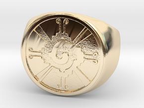 Hunab-ku in 14K Yellow Gold