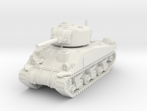 1/100 (15mm) M4 Sherman (F.O.W) Tank One in White Natural Versatile Plastic