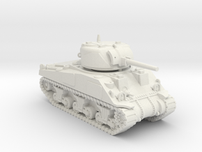 1/100 (15mm) M4 Sherman (F.O.W) Tank Three in White Natural Versatile Plastic