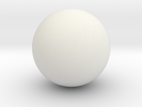 Solid Sphere (6.5cm diameter) in White Natural Versatile Plastic