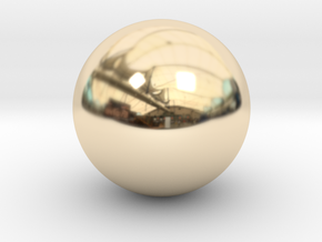 Solid Sphere (6.5cm diameter) in 14k Gold Plated Brass
