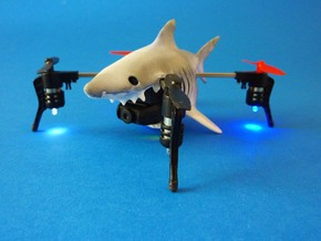Shark case for Micro Drone 3 in White Strong & Flexible