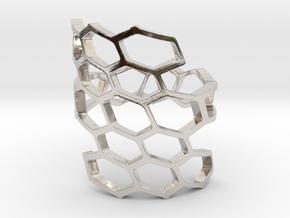 HoneyComb Ring4 in Platinum