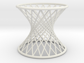 Hyperboloid: Ruled in White Natural Versatile Plastic