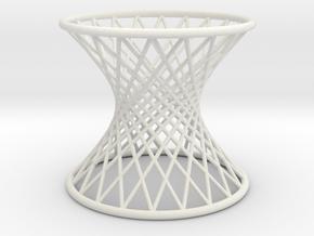 Hyperboloid: Ruled in White Natural Versatile Plastic