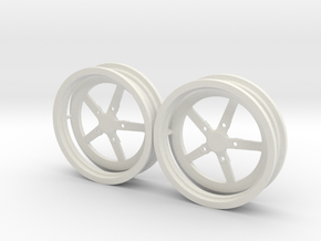 Drag 5spoke Front 1/12 in White Natural Versatile Plastic
