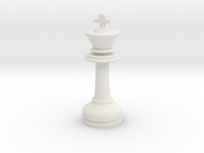 MILOSAURUS Chess LARGE Staunton King in White Natural Versatile Plastic