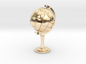 World Sculpture in 14k Gold Plated Brass
