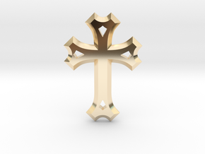 Syriac Cross in 14k Gold Plated Brass