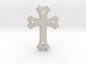 Syriac Cross in Natural Sandstone