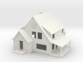Sears Cedars House - Zscale in White Natural Versatile Plastic