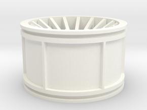 Custom Concave Rim--Right Side in White Processed Versatile Plastic