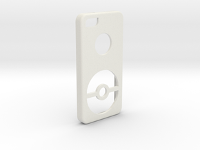 Iphone SE Pokeball Case in White Strong & Flexible