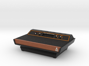1:6 Atari 2600 (Wood Grain) in Full Color Sandstone