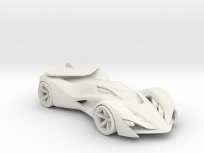 Invo R Racecar - Concept Design Quest in White Natural Versatile Plastic