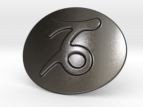 Capricorn Belt Buckle in Polished and Bronzed Black Steel