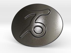 Capricorn Belt Buckle in Polished Grey Steel