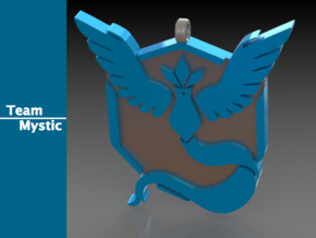 Team Mystic Pendant in Polished Bronzed Silver Steel